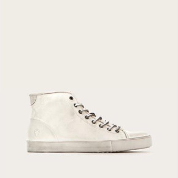 12f8c72b016 Frye Other - Frye Brett Ivory Distressed High Top Sneakers 13